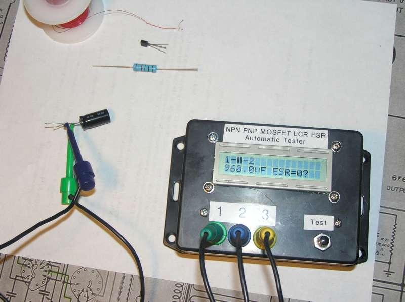 $20 LCR ESR Transistor checker project - Page 1